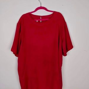 Hot Pink Silk Tunic | 100% washable silk